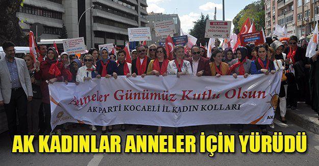AKP'li kadınlar 81 ilde eş zamanlı yürüdü