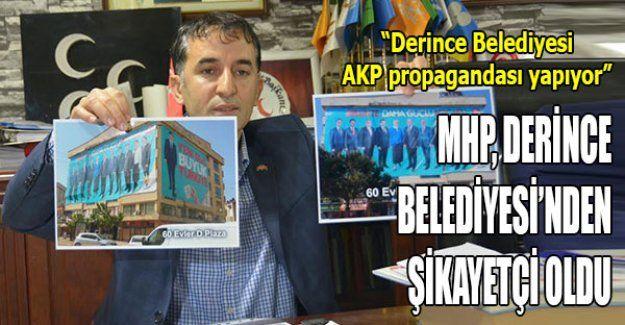 MHP, Derince Belediyesi'nden şikayetçi oldu