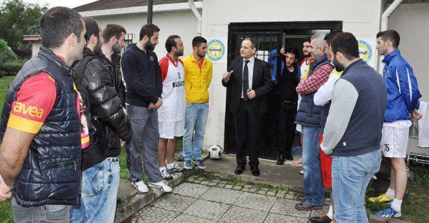 Türk Pirelli futbol takımı heyecanlı