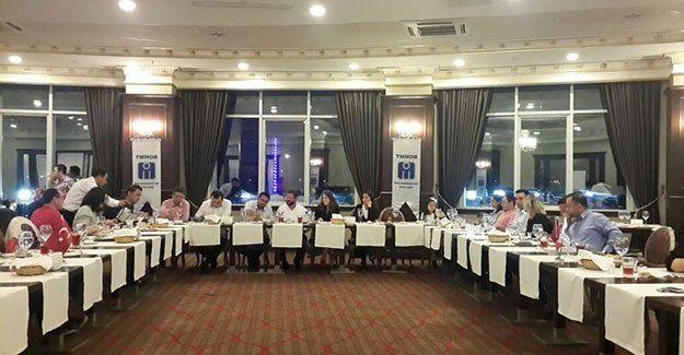 İMO'da yönetim iftarlı toplantı yaptı