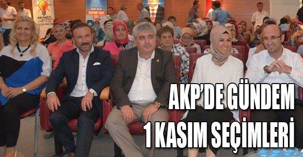 AKP'de gündem 1 Kasım seçimleri