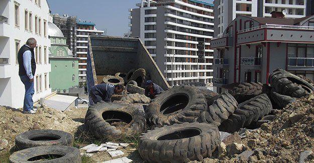 Her ay 30 ton atık lastik toplanıyor