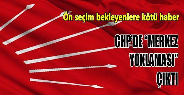 """CHP'de """"Merkez Yoklaması"""" çıktı"""