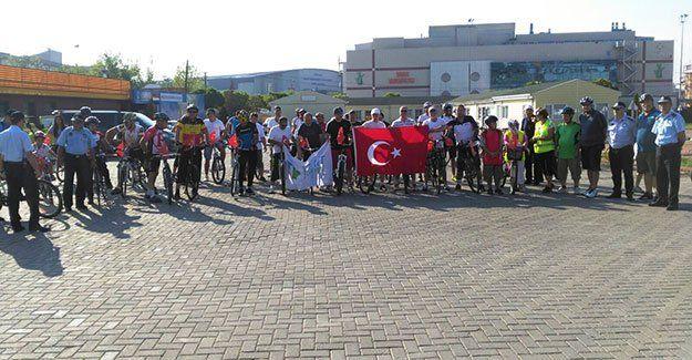 Bisikletçilerden 30 Ağustos turu