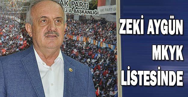 Zeki Aygün MKYK listesinde