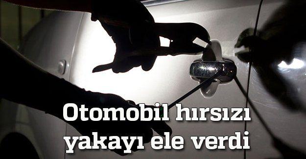 Otomobil hırsızı yakayı ele verdi
