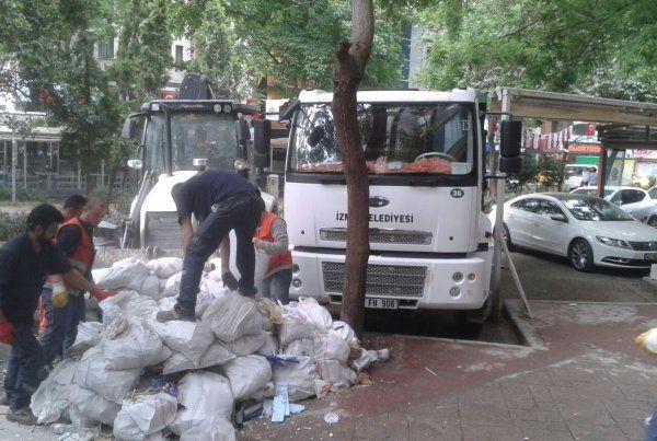 İzmit Belediyesi, haftada 200 ton moloz topluyor