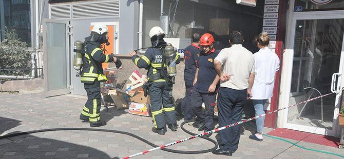 Gebze'de hastanede yangın paniği