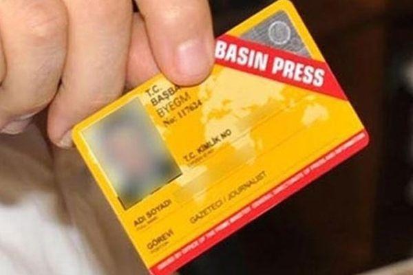 115 kişinin sürekli basın kartı iptal edildi