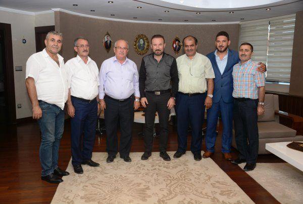 Başkan Doğan, minibüs kooperatifi başkanı ve yönetimini ağırladı