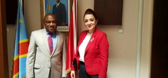 SANKON Genel Başkanı Atasoy, Büyükelçi Tshıdımba'yı ziyaret etti
