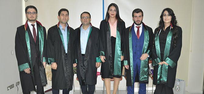 5 genç avukatlık mesleğine ilk adımı attı