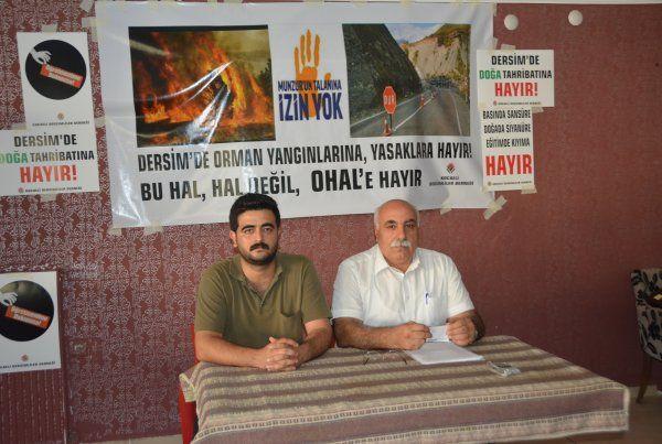 """Kocaeli Dersimliler Derneği:""""Doğa talanına son verin"""""""