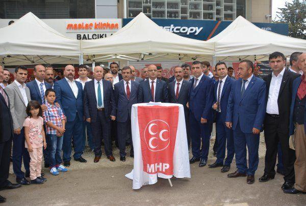 MHP'de kalabalık bayramlaşma