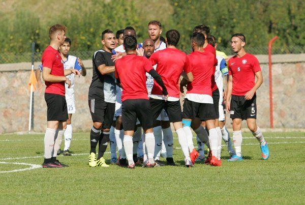 İhsaniye'deki hazırlık maçı yarıda kaldı
