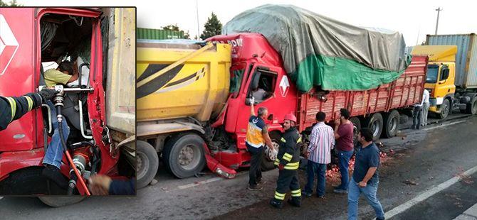 TEM'de korkutan kaza: 2 yaralı