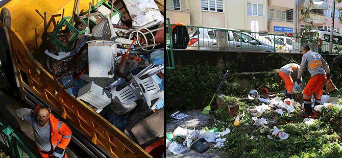 Evden 1 kamyon dolusu çöp çıktı