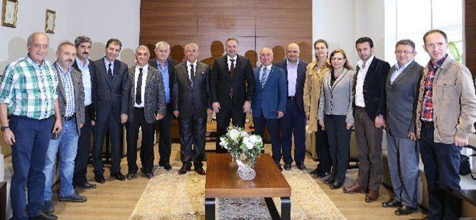 Başkanlar, CHP İl Başkanı Sarıbay'ı ağırladı