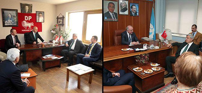 Karaosmanoğlu, DP ve DSP'yi ziyaret etti