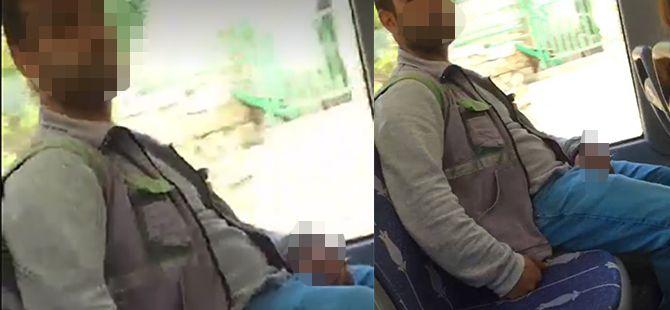 Otobüsteki taciz ifşa edildi