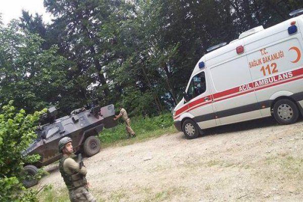 Trabzon'da patlama:2 asker yaralı