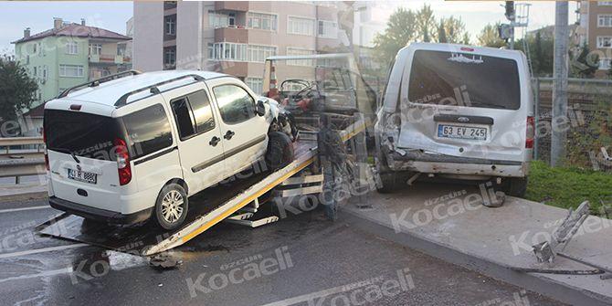 Kandıra Sapağı'nda korkutan kaza! 1 yaralı
