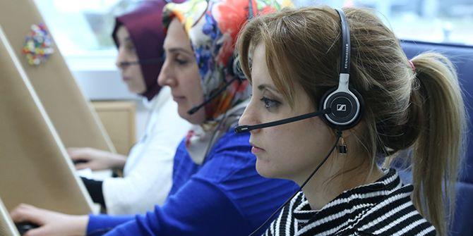 Çağrı Merkezi, 2017'de 750 bin kişiye hizmet verdi