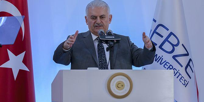 Başbakan Yıldırım, GTÜ'de konuştu