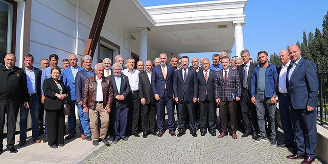 Karamürselli muhtarlar, Vali Aksoy ile birlikte