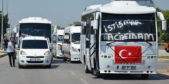 Servisçilerden çocuk istismarlarına tepki konvoyu