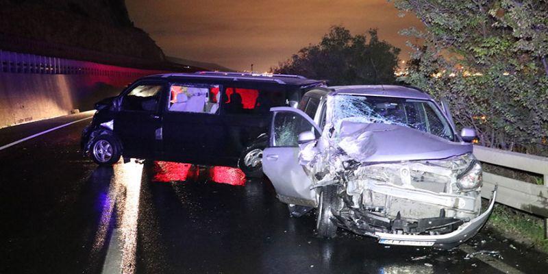 Kaza yaptı, aracını bırakıp kaçtı...