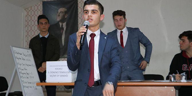 İmam Hatip öğrencisi Kocaeli Öğrenci Meclis Başkanı seçildi