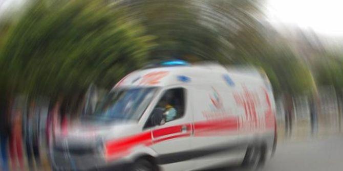 Barakadan düşen yaşlı adam ağır yaralandı