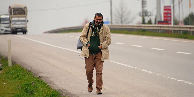 Sesini duyurabilmek için Ankara'ya yürüyor