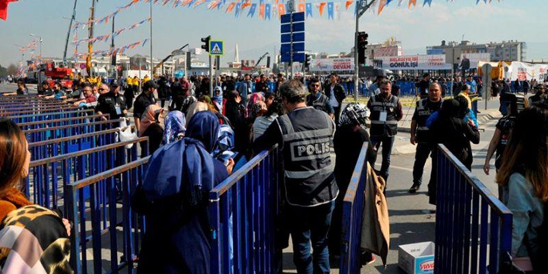 Erdoğan mitingi öncesi güvenlik önlemleri hat safhada