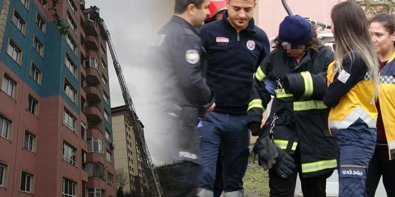 9 katlı binanın çatısına çıkıp intihara kalkıştı