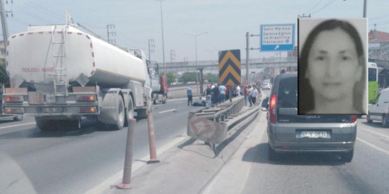 Engelli kadına tanker çarptı