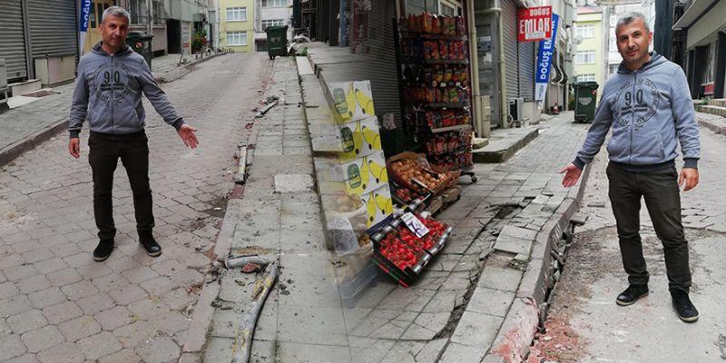 Deprem zannettiler! İzmit'te iş makinesi dehşeti