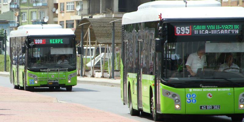 Kocaeli'de bugün ulaşım ücretsiz