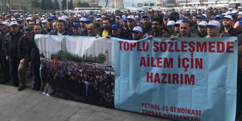 TÜPRAŞ işçileri İstanbul'a gidiyor