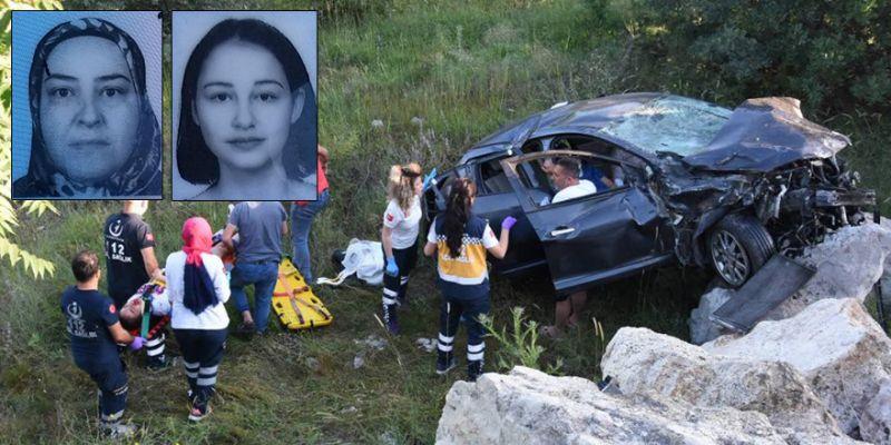 Korkunç kaza! Anne-kız öldü