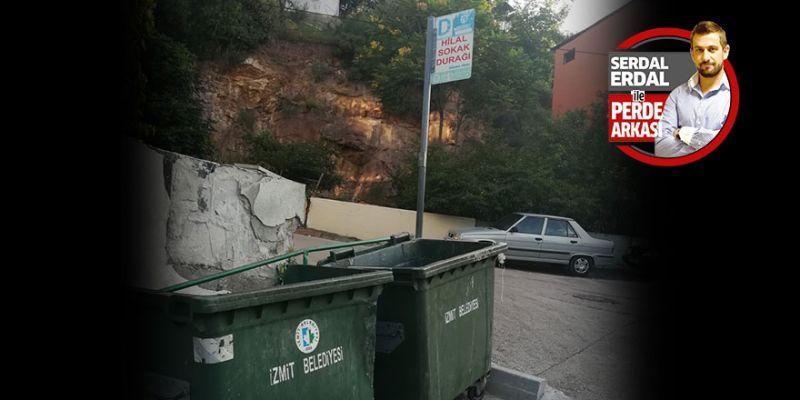Otobüs durağı mı çöp koyma yeri mi?