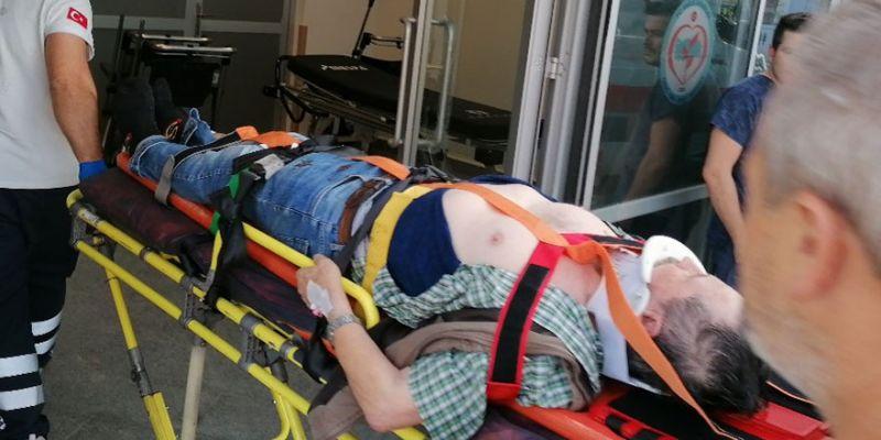 Çatıdan aşağı düşen yaşlı adam yaralandı