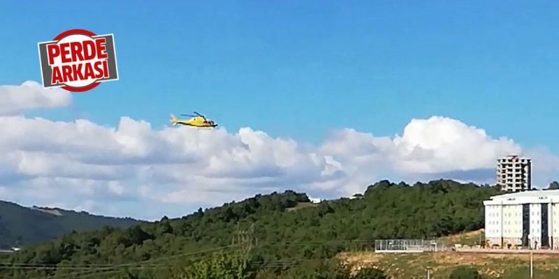 Sarı renkli helikopter vatandaşı tedirgin etti