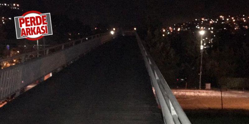 Köprü üzerindeki ışıklandırma yetersiz
