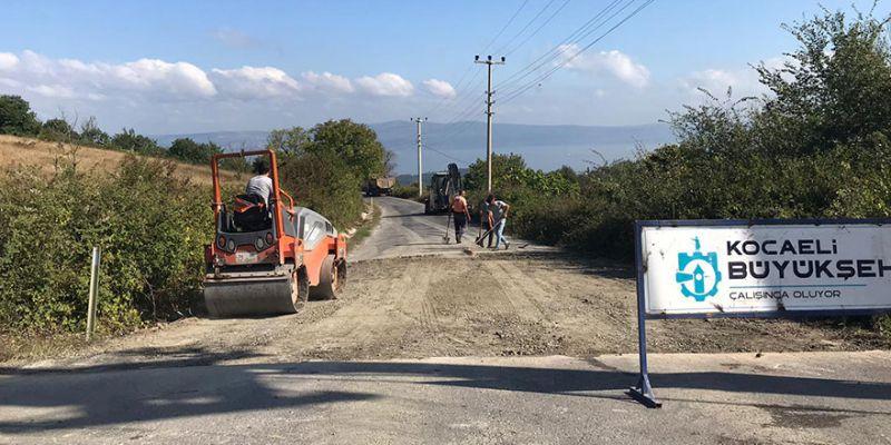Kocaeli'de köy yollarına kış bakımı
