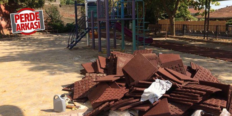 Serdar Mahallesi'nde parklar yenileniyor