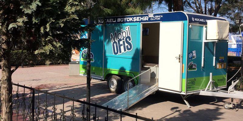 Mobil Ofis Karavanı Kocaeli'yi dolaşıyor