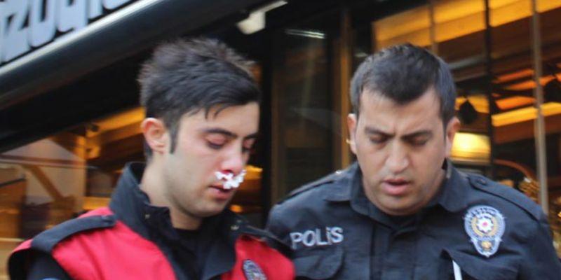 Kimlik soran polise saldırı
