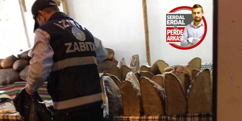 Kermesteki bayat ekmeğe zabıta ekipleri el koydu